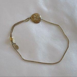 Alex and Ani Gold Sand dollar bracelet